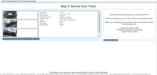 eCommerce Ticket Detail Image